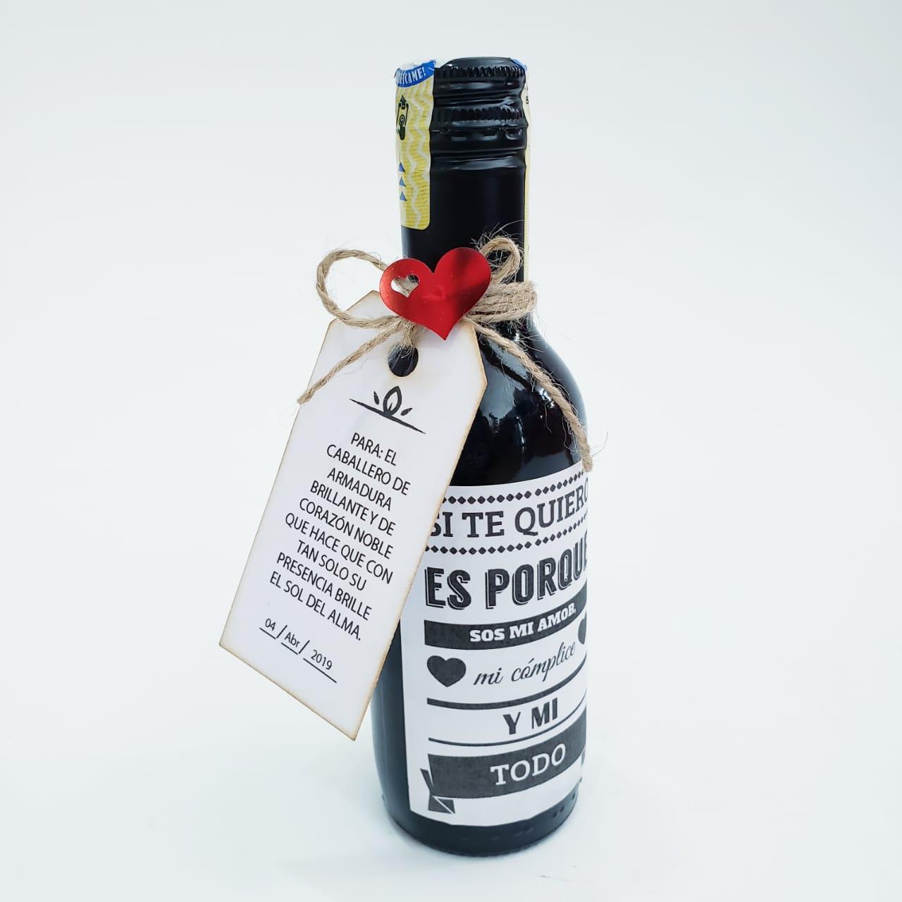tornillo Geología Aprobación  Regalo Botella de Vino con Etiqueta Personalizada • Obsequiarte